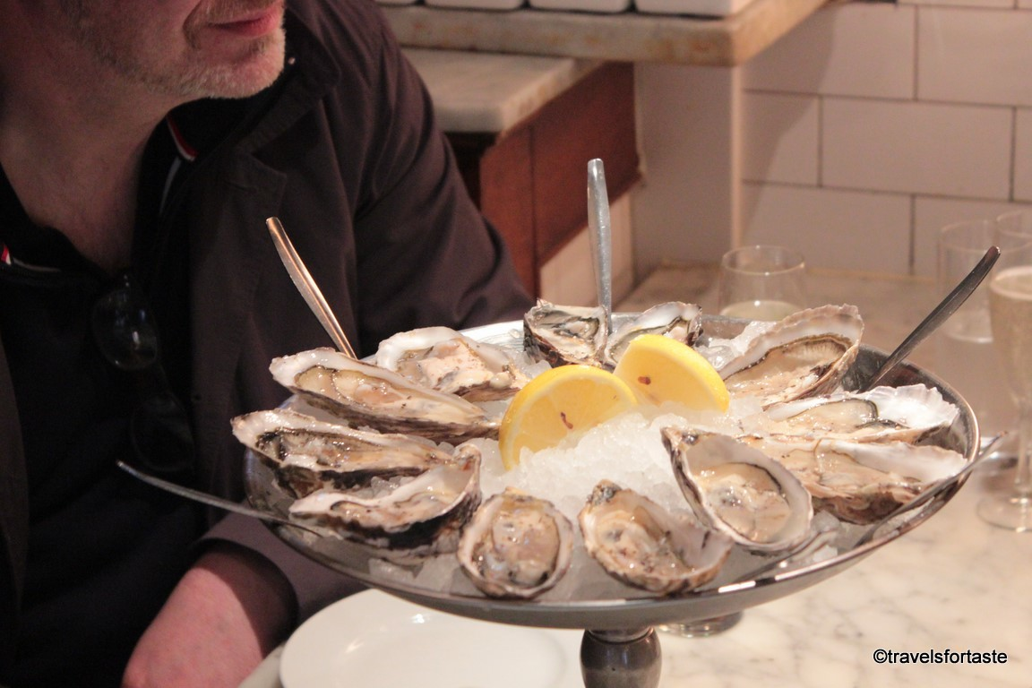 Oysters at Randall & Aubin, SOHO, London