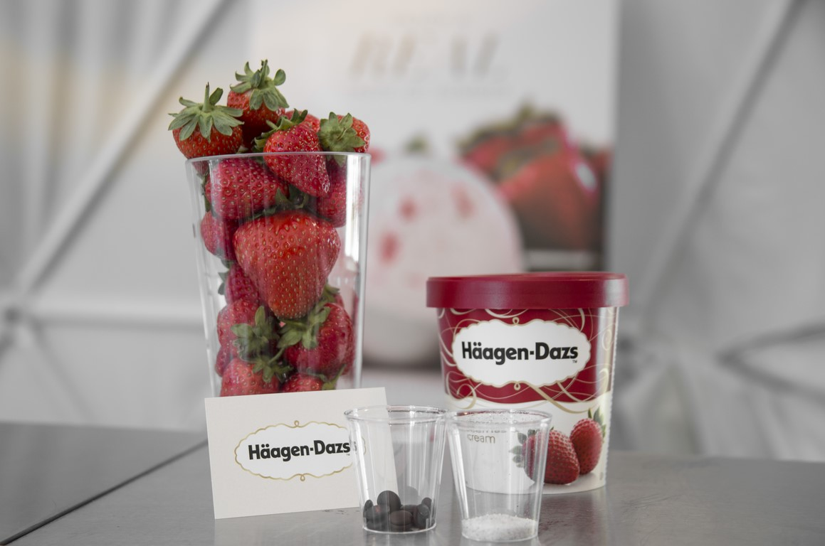 Häagen-Dazs strawberries and cream ice cream